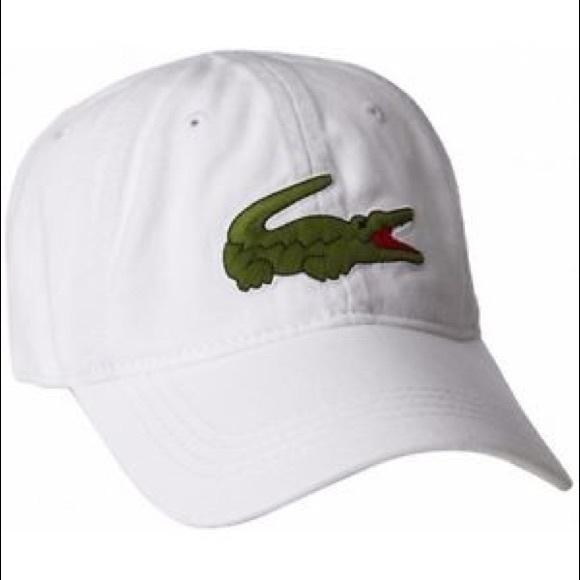 969ddd6c87 LACOSTE MEN'S BIG CROC GABARDINE CAP